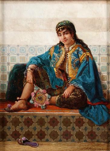Young harem-woman - Jan Baptiste Huysmans (1826 -1906)