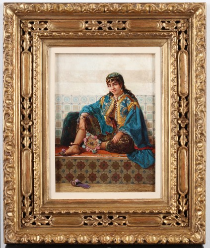 Young harem-woman - Jan Baptiste Huysmans (1826 -1906) - Paintings & Drawings Style