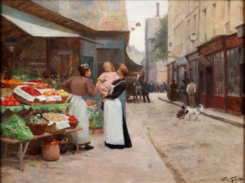 Street scene in Paris - Victor Gabriel Gilbert (1847-1935)