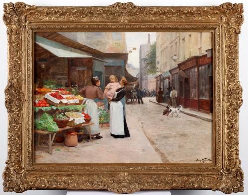 Street scene in Paris - Victor Gabriel Gilbert (1847-1935) - Paintings & Drawings Style