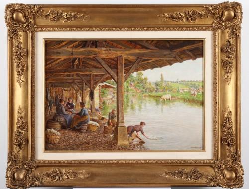 Lavandières (Woman washing) - Marie-Francois Firmin-Girard (1838 -1921) - Paintings & Drawings Style