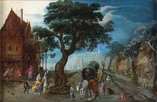 Village view - Christoffel van Den Berghe (1590-1642)