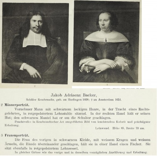 Paintings & Drawings  - Portraits of a husband and wife - attributed to Jacob Adriaenz Backer