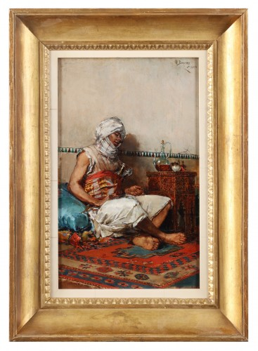 Mariano Barbasan (1864-1924) - Berber drinking tea