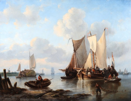 Georges-Wilhelm OPDENHOFF (1807-1873). - Dutch fishing ships