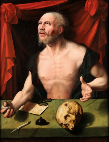 Penitent Saint Jerome - Joos van Cleve (workshop of)