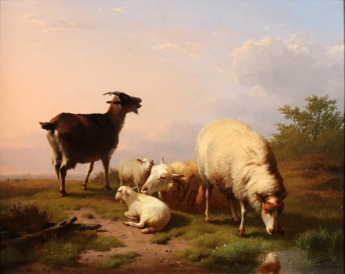 Eugène Verboeckhoven (1798-1881) - Cattle grazing on the field