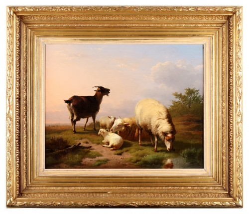 Eugène Verboeckhoven (1798-1881) - Cattle grazing on the field - Paintings & Drawings Style