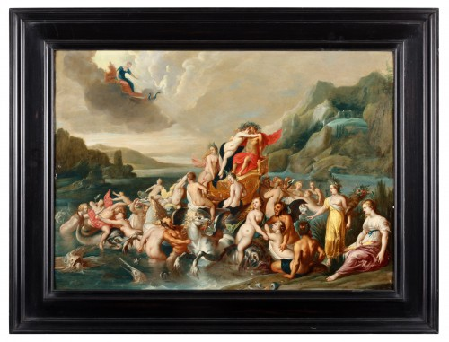The triumph of Neptune and Amphritrite - Attributed to Frans Wouters (1612-1659)