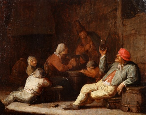 Thomas Adriaensz Wijck (1620-1677 -  Peasants making merry in an inn