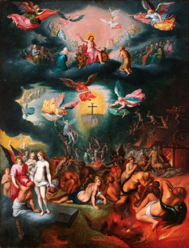 The last judgement  Flemish school circa 1610