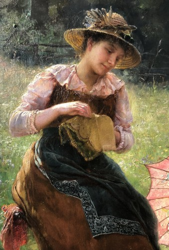 Paul Hermann Wagner. Mother with daughter on a summer's day - Paintings & Drawings Style