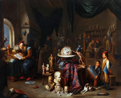 Gerard Thomas (1663-1721) - The workshop of a sculptor
