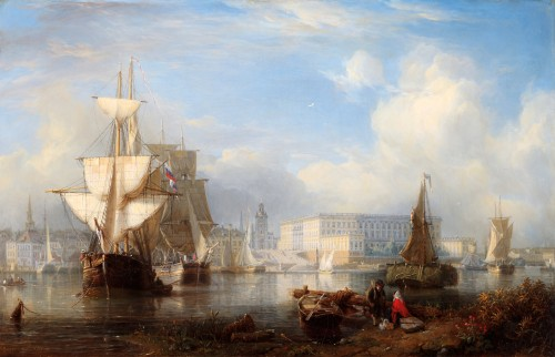 Johann Christian Berger, View of the Royal Palace at Stockholm