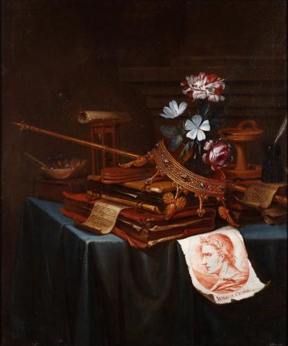 Vanitas still life - Vincent Laurensz van der Vinne (1628-1702)