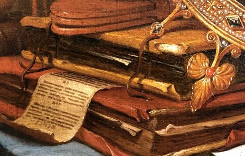 17th century - Vanitas still life - Vincent Laurensz van der Vinne (1628-1702)
