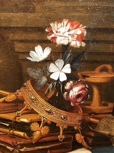 Vanitas still life - Vincent Laurensz van der Vinne (1628-1702) -