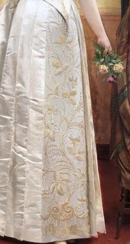 Paintings & Drawings  - Elegant lady holding a rose by Georges Croegaert (1848-1923)