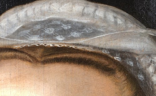 Paintings & Drawings  - Portrait of a woman with a lace ruff  by Frans I Pourbus (1545-1581)