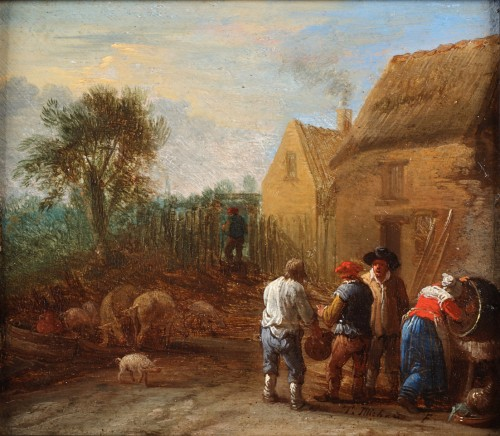 Daily chores - Théobald Michau (1676-1765)