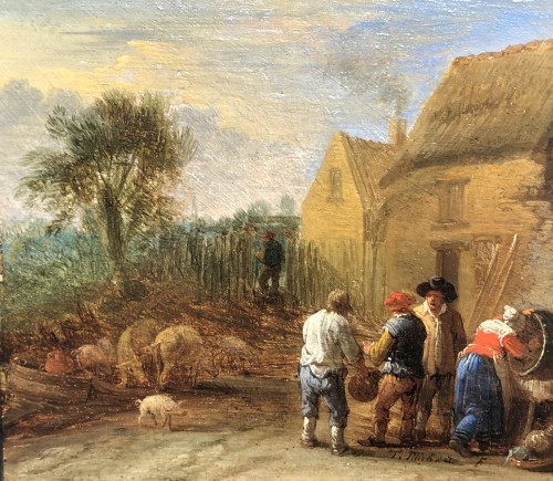 17th century - Daily chores - Théobald Michau (1676-1765)