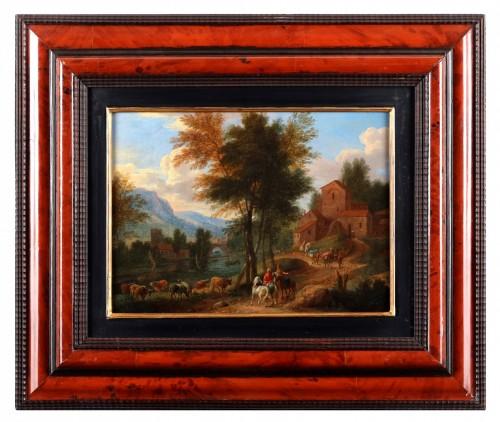Antiquités - Paire of landscape - Mathys Schoevaerts (1665 - after 1702)
