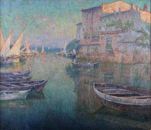 Paul Leduc (1876-1943) - Soir provençal in Martigues