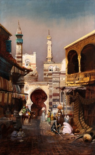 Robert Alott (1850-1910) - Oriental market