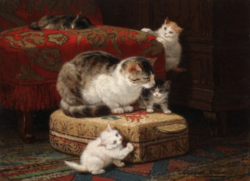 Henriette Ronner (1821-1909) - Motherhood