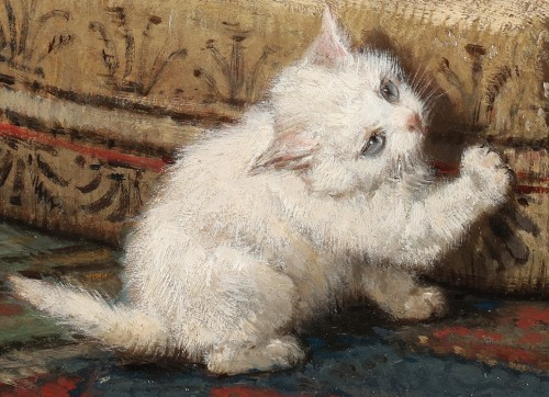 Henriette Ronner (1821-1909) - Motherhood -