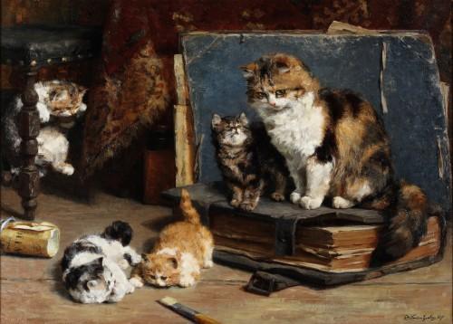 Motherhood - Charles van den Eycken (1859-1923)