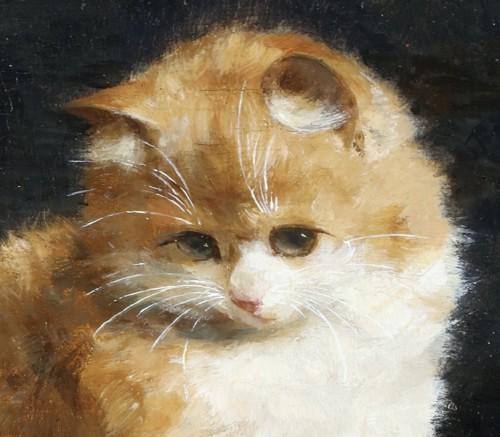 Playfull kittens - Charles van den Eycken (1859-1923) -