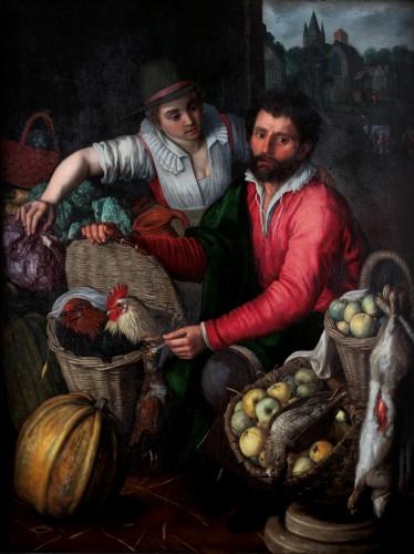 Huybrecht Beuckelaer (1535 after 1602)  - The market seller