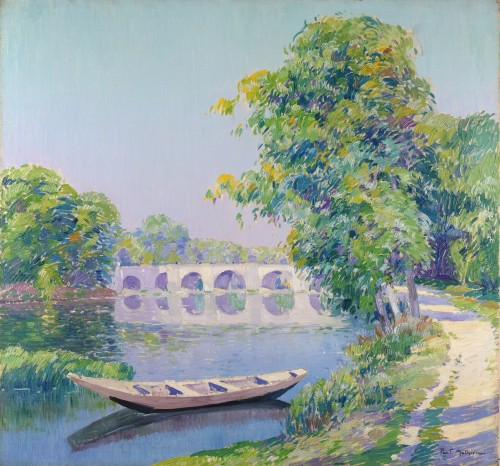 Paul Matthieu (1872-1932) - Boat on the river the Samber