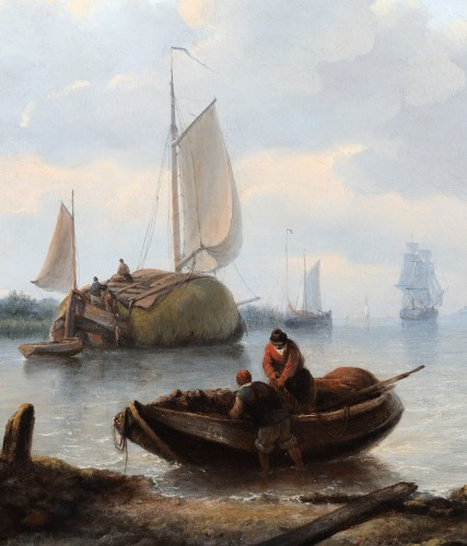 Georg Willem Opdenhoff (1807-1873) - marine view - Paintings & Drawings Style