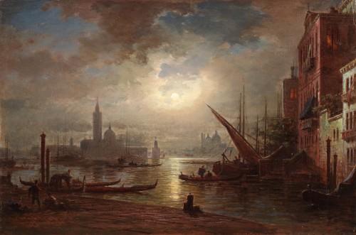 Ludwig Mecklenburg (1820-1882) - Venice at dusk