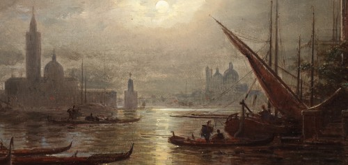 Ludwig Mecklenburg (1820-1882) - Venice at dusk - Paintings & Drawings Style