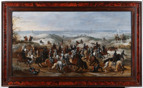 Flemish school, 17th century. The battle of Lekkerbeetje at Vught