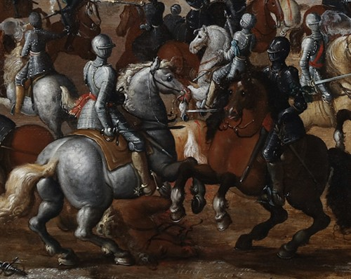 Paintings & Drawings  - Flemish school, 17th century. The battle of Lekkerbeetje at Vught