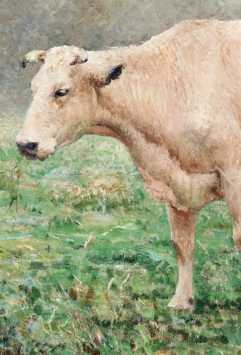Emile Claus (1849-1924) Cows in the meadow - Paintings & Drawings Style