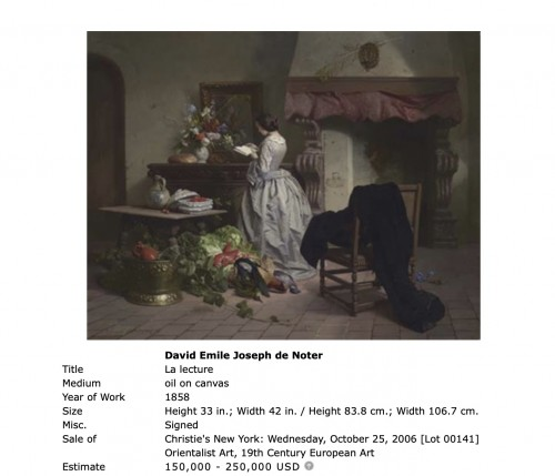 - David de Noter (1818 Ghent-1892 Algiers)