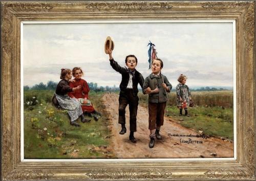 César Pattein (1850 Steenvoorde- 1931 Hazebrouck) - Paintings & Drawings Style