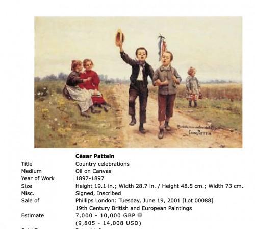 - César Pattein (1850 Steenvoorde- 1931 Hazebrouck)