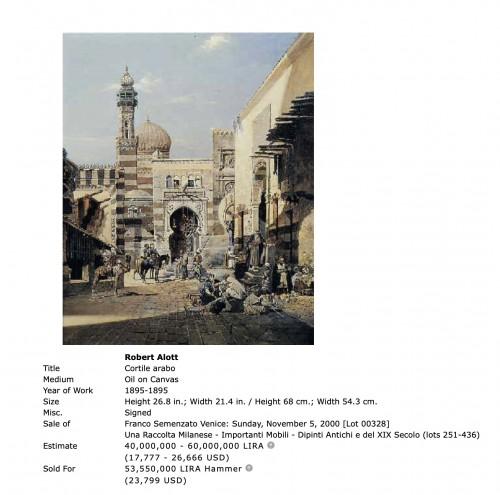 Paintings & Drawings  - Robert Alott (1850-1910)