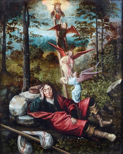 The dream of Jakob. French school early 16th century