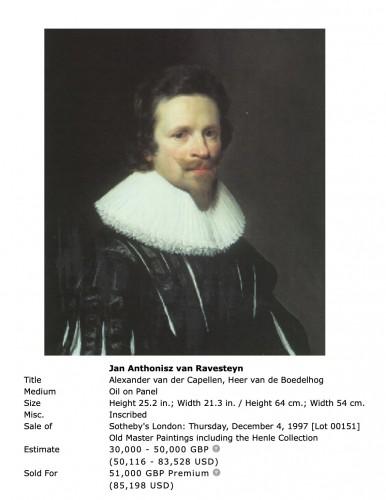 Jan Anthonisz van Ravensteyn (1572-1657) - Portrait - Paintings & Drawings Style