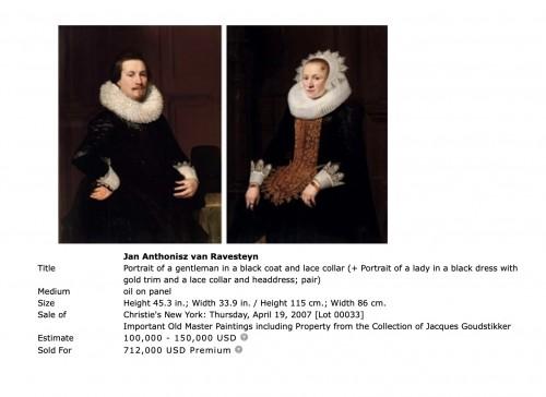 Paintings & Drawings  - Jan Anthonisz van Ravensteyn (1572-1657) - Portrait