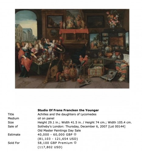 Frans Francken II (1581 - 1642) and workshop - Paintings & Drawings Style
