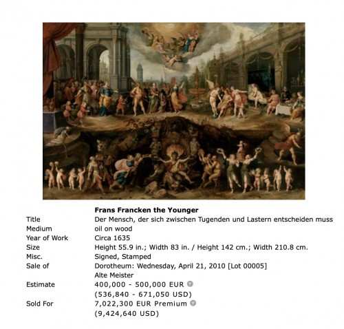 Paintings & Drawings  - Frans Francken II (1581 - 1642) and workshop