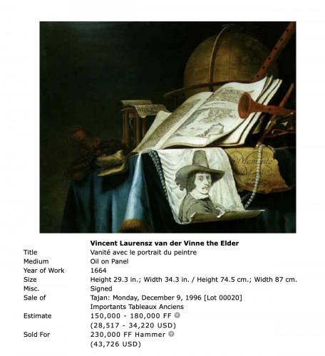 17th century - Vincent Laurensz. Van der Vinne (1629-1702)